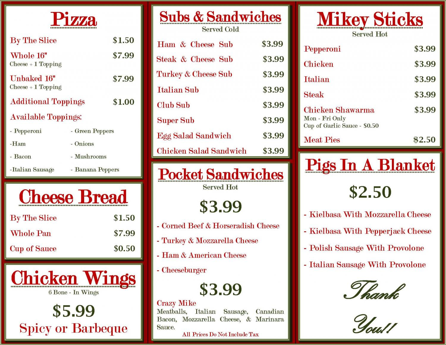 Pizza, Dearborn, Mike's, Menu